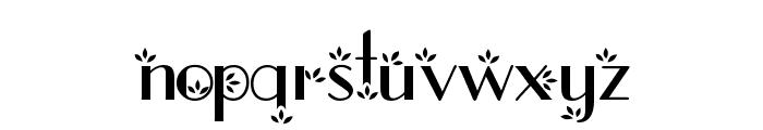 flower1 Font LOWERCASE