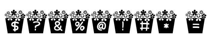 flower_font Font OTHER CHARS