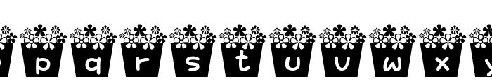 flower_font Font LOWERCASE