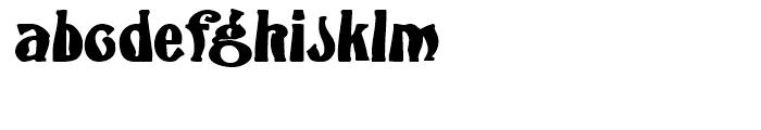 Flambard Regular Font LOWERCASE