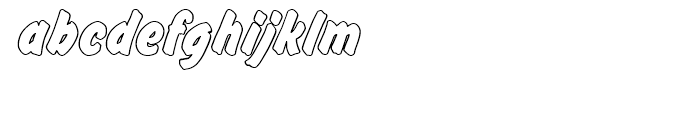Flash Posteroutline Bold p Font LOWERCASE