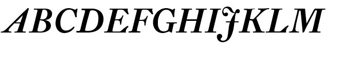 Fleischman BT Bold Italic Font UPPERCASE