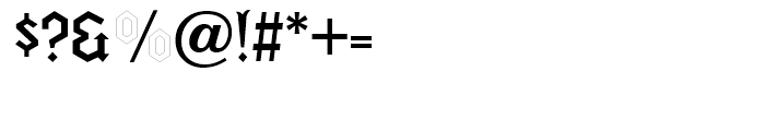 Fletcher Regular Font OTHER CHARS