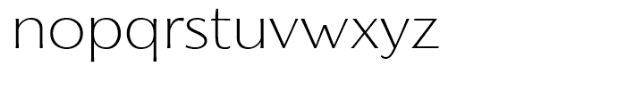 Florentia ExtraLight Font LOWERCASE