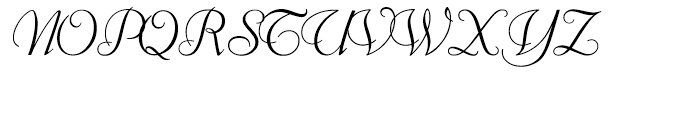 Florentine Cursive with OS Figures Font UPPERCASE