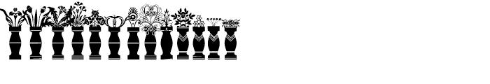 Flower Jars Regular Font UPPERCASE