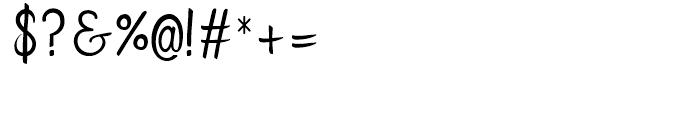 Flows Regular Font OTHER CHARS