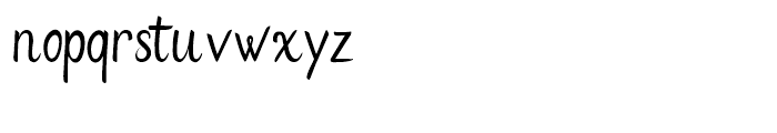 Flows Regular Font LOWERCASE
