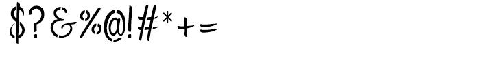 Flows Stencil Regular Font OTHER CHARS