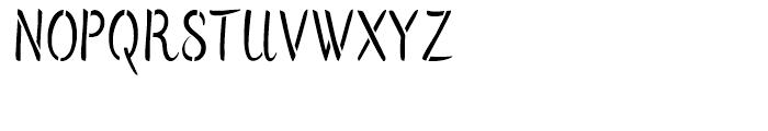 Flows Stencil Regular Font UPPERCASE