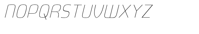 Fluctuation Extra Light Italic Font UPPERCASE