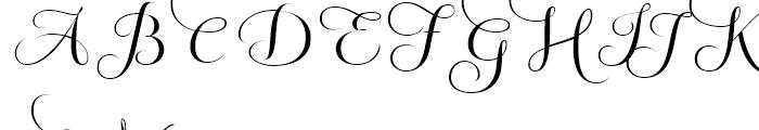 Fluence Three Font UPPERCASE