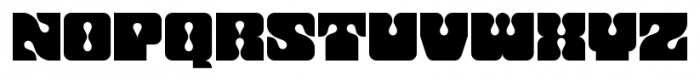 Flashback Dropout Font UPPERCASE