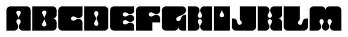 Flashback Dropout Font LOWERCASE