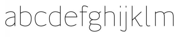 Flexline Light Font LOWERCASE