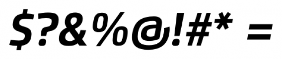 Flexo Bold Italic Font OTHER CHARS