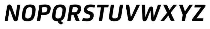 Flexo Bold Italic Font UPPERCASE