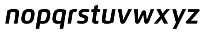 Flexo Bold Italic Font LOWERCASE