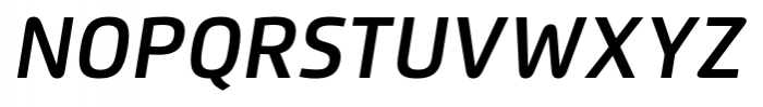 Flexo Demi Italic Font UPPERCASE