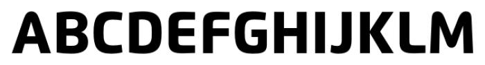 Flexo Heavy Font UPPERCASE