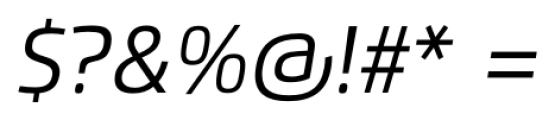 Flexo Italic Font OTHER CHARS