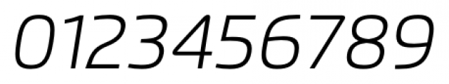 Flexo Light Italic Font OTHER CHARS