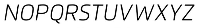 Flexo Light Italic Font UPPERCASE