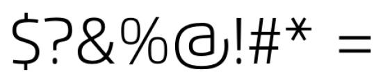 Flexo Light Font OTHER CHARS