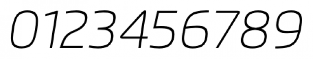 Flexo Thin Italic Font OTHER CHARS