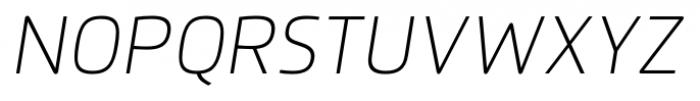 Flexo Thin Italic Font UPPERCASE