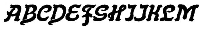 Flinscher Weathered Bold Italic Font UPPERCASE