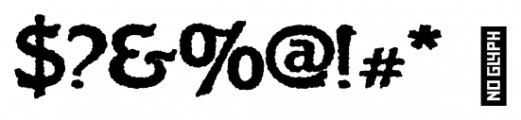 Flinscher Weathered Bold Font OTHER CHARS