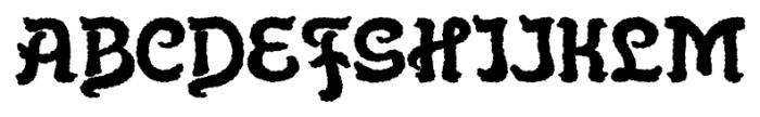 Flinscher Weathered Bold Font UPPERCASE