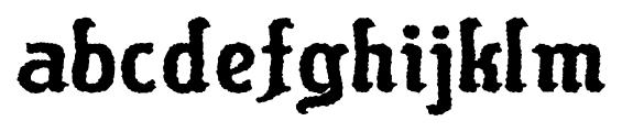 Flinscher Weathered Bold Font LOWERCASE