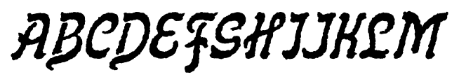 Flinscher Weathered Italic Font UPPERCASE
