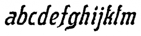 Flinscher Weathered Italic Font LOWERCASE