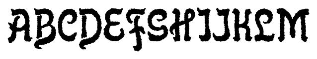 Flinscher Weathered Regular Font UPPERCASE