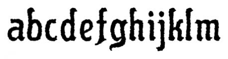 Flinscher Weathered Regular Font LOWERCASE
