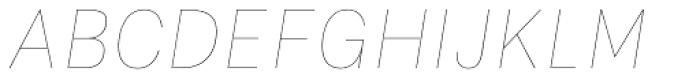 Flaco Thin Italic Font UPPERCASE