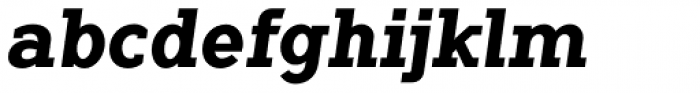 Flamante Serif Bold Italic Font LOWERCASE
