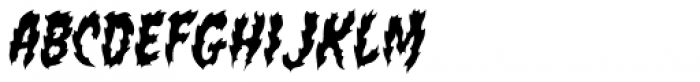 Flame On Font LOWERCASE