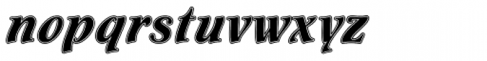 Flamenco Inline Std Font LOWERCASE