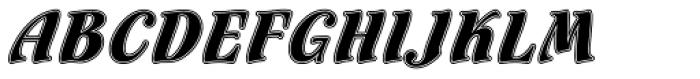 Flamenco Inline Font UPPERCASE