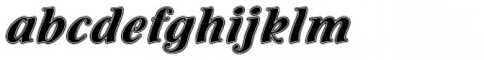 Flamenco Inline Font LOWERCASE