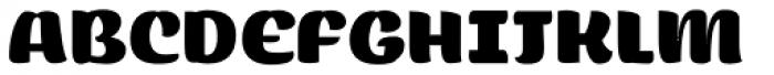 Flaminia Black Font UPPERCASE