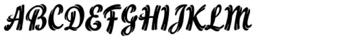 Flamme Std Font UPPERCASE