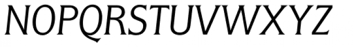 Flange BQ Light Italic Font UPPERCASE