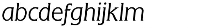 Flange BQ Light Italic Font LOWERCASE