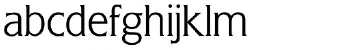 Flange BQ Light Font LOWERCASE