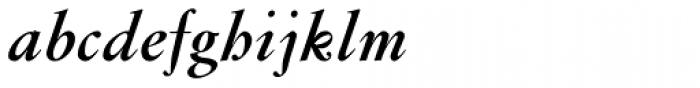 Flanker Garaldus Bold Italic Font LOWERCASE